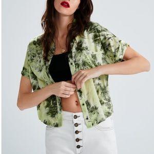 Zara Tie-Dye Print T Shirt Sz:M